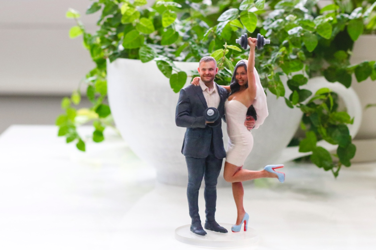 Custom 3d wedding cake topper in toronto fitness